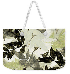 Weekender Tote Bag featuring the digital art Textured Leaves Abstract By Kaye Menner by Kaye Menner