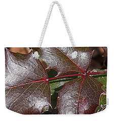 Weekender Tote Bag featuring the photograph Textured Leaves by Doris Potter