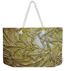 Weekender Tote Bag featuring the mixed media Textured Light by Angela Stout