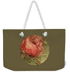 Weekender Tote Bag featuring the painting Textured Rose Art by Mary Wolf