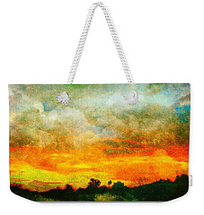 Textured Sunset Weekender Tote Bag