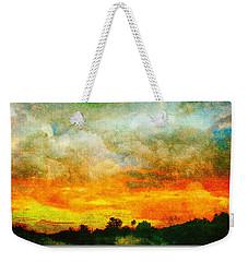 Textured Sunset Weekender Tote Bag