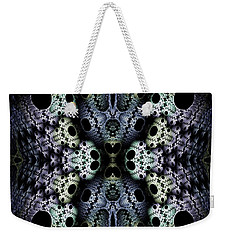 Weekender Tote Bag featuring the digital art Texturized  by Lea Wiggins
