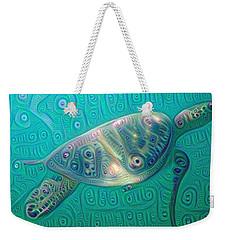 Thaddeus The Turtle Weekender Tote Bag by Erika Swartzkopf