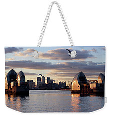 Thames Barrier And Seagulls Weekender Tote Bag