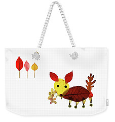 Puppy Love Weekender Tote Bag by Charline Xia