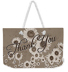 Thank You Card Daisies Weekender Tote Bag