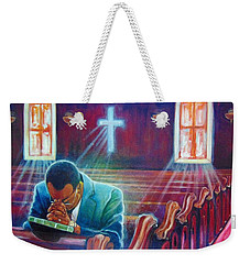 thank you GOD Weekender Tote Bag by Emery Franklin