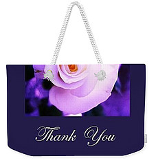 Thank You  Weekender Tote Bag by Mary Ellen Frazee