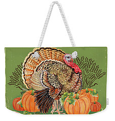Weekender Tote Bag featuring the painting Thanksgiving-b by Jean Plout