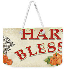 Weekender Tote Bag featuring the painting Thanksgiving-f by Jean Plout