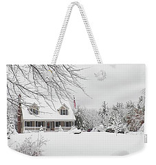 Thanksgiving In White Weekender Tote Bag