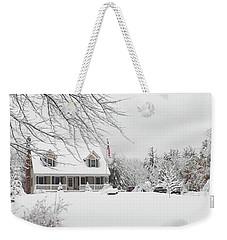 Thanksgiving In White Weekender Tote Bag