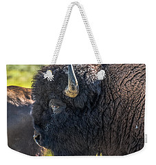 Weekender Tote Bag featuring the photograph That Dusty Migration by Yeates Photography
