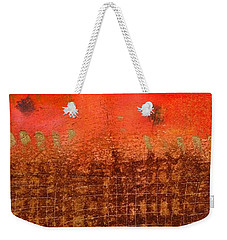 That Long Brown Fence Dividing You And Me Weekender Tote Bag by Angela L Walker