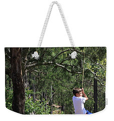 Weekender Tote Bag featuring the photograph That Ole' Rope Swing by Kim Henderson