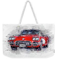 The 1959 Chevrolet Corvette Weekender Tote Bag