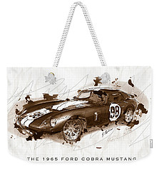The 1965 Ford Cobra Mustang Weekender Tote Bag