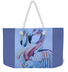 The 3 Flamingos Weekender Tote Bag