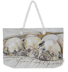 The 3 Puppies Weekender Tote Bag