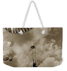 The 82nd Airborne  Hits The Silk Fort Ord 1953 Weekender Tote Bag