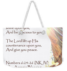The Aaronic Blessing And True Light Lower Emerald Pools Zion Weekender Tote Bag