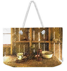 Weekender Tote Bag featuring the digital art The Abandoned Cabin by Steve Taylor