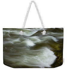 Weekender Tote Bag featuring the photograph The Action On Top by Mike Eingle