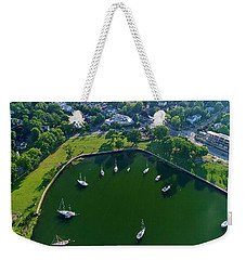 The Aerial View Of The Marina Of Mamaroneck Weekender Tote Bag