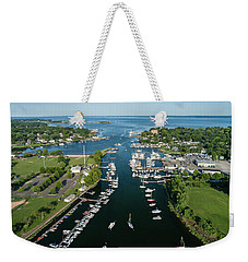 The Aerial View To The Mamaroneck Marina, Westchester County Weekender Tote Bag
