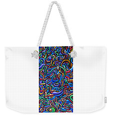 The After Party, Another Party - Chromatic Abstract Painting - Ai P. Nilson Weekender Tote Bag