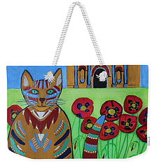 the Alamo Cat Weekender Tote Bag