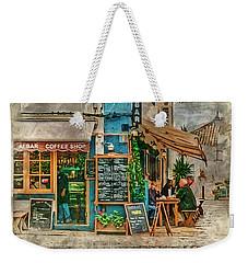 The Albar Coffee Shop In Alvor. Weekender Tote Bag