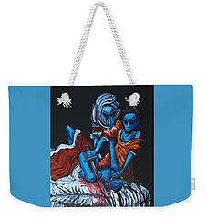 Weekender Tote Bag featuring the painting The Alien Judith Beheading The Alien Holofernes by Similar Alien