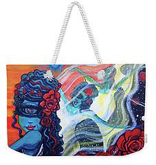 The Alien Scarlet Begonias Weekender Tote Bag