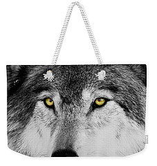 Weekender Tote Bag featuring the photograph The Alpha Portrait by Mircea Costina Photography