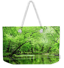 The Alum Fork River In Springtime Weekender Tote Bag