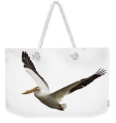 Weekender Tote Bag featuring the photograph The Amazing American White Pelican by Ricky L Jones