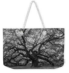 The Angel Oak Tree Bw  Weekender Tote Bag