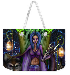 The Animal Goddess Fantasy Art Weekender Tote Bag