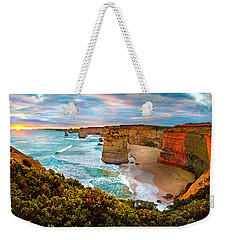 The Apostles Sunset Weekender Tote Bag by Az Jackson