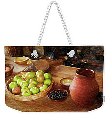 The Apple Basket Weekender Tote Bag