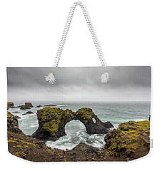 Weekender Tote Bag featuring the photograph The Arch At Gatklettur by Rikk Flohr