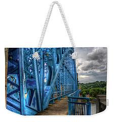 Weekender Tote Bag featuring the photograph The Archway Market Street Bridge John Ross Bridge Art by Reid Callaway