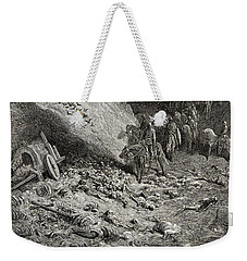 The Army Of The Second Crusade Find The Remains Of The Soldiers Of The First Crusade Weekender Tote Bag
