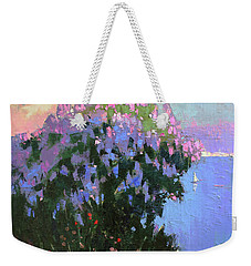 Weekender Tote Bag featuring the painting The Aroma Of Wandering by Anastasija Kraineva