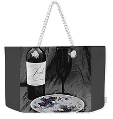 The Art Of Wine And Grapes Weekender Tote Bag by Sherry Hallemeier
