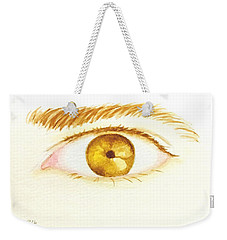 Weekender Tote Bag featuring the painting The Artist's Eye by Stacy C Bottoms