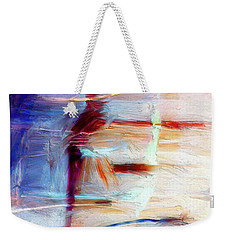 Weekender Tote Bag featuring the painting The Auberge by Dominic Piperata