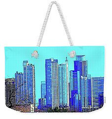 The #austin #skyline On A Sunny, Cold Weekender Tote Bag